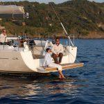 ankernde yacht
